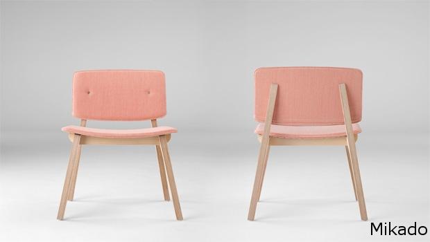 Mikado XL tapizada  silla comedor diseño sillon moderno   madera tapizada ondarreta  Barcelona lacadira.com