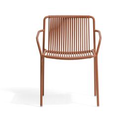Tribeca 3665 sillón de terraza pedrali acero y trenzado