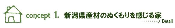 新潟県産材のぬくもりを感じる家