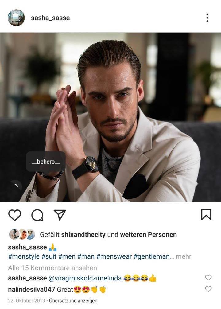sasha_sasse trägt BEHERO Lion (Onyx matt)