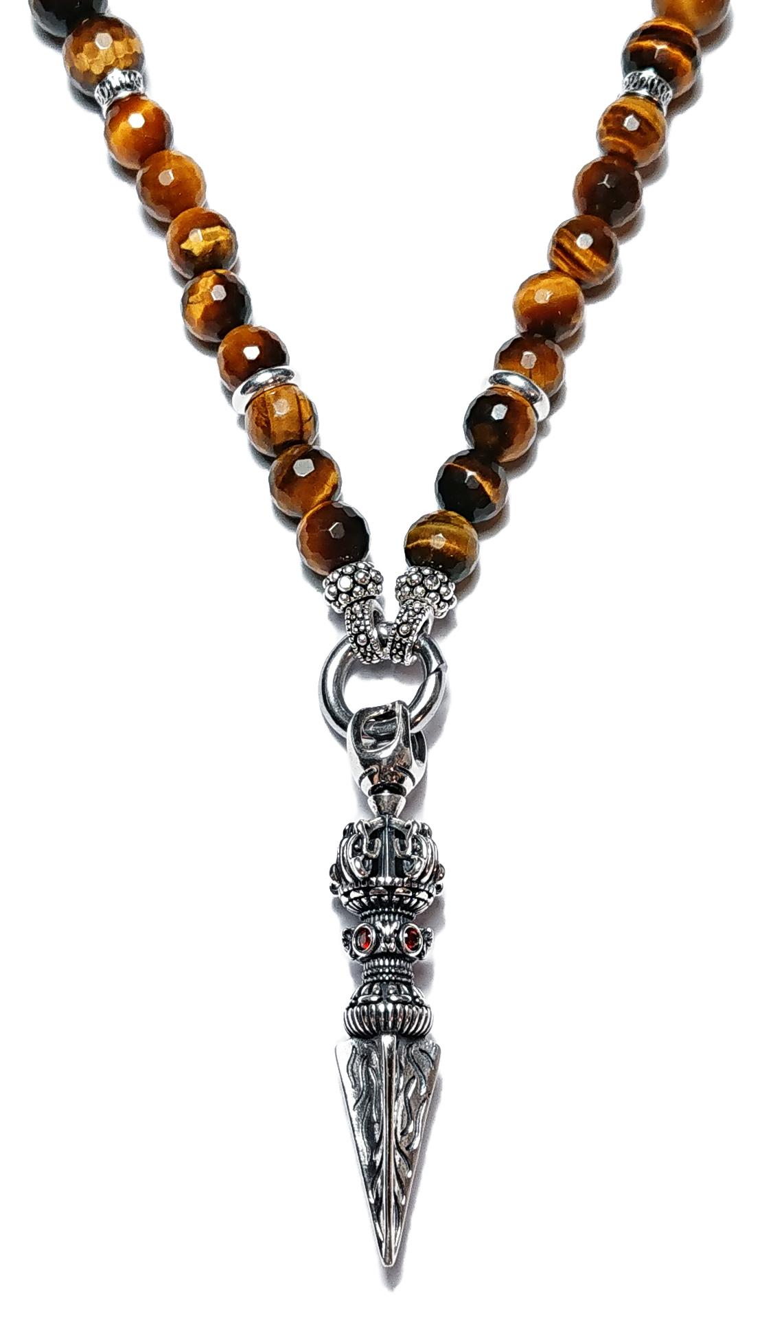 BEHERO Halskette Dragon Phurba (Tigerauge)