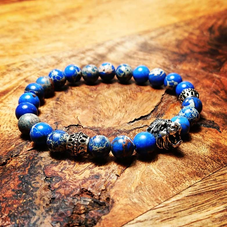 BEHERO Designer Armband Lion (blau)