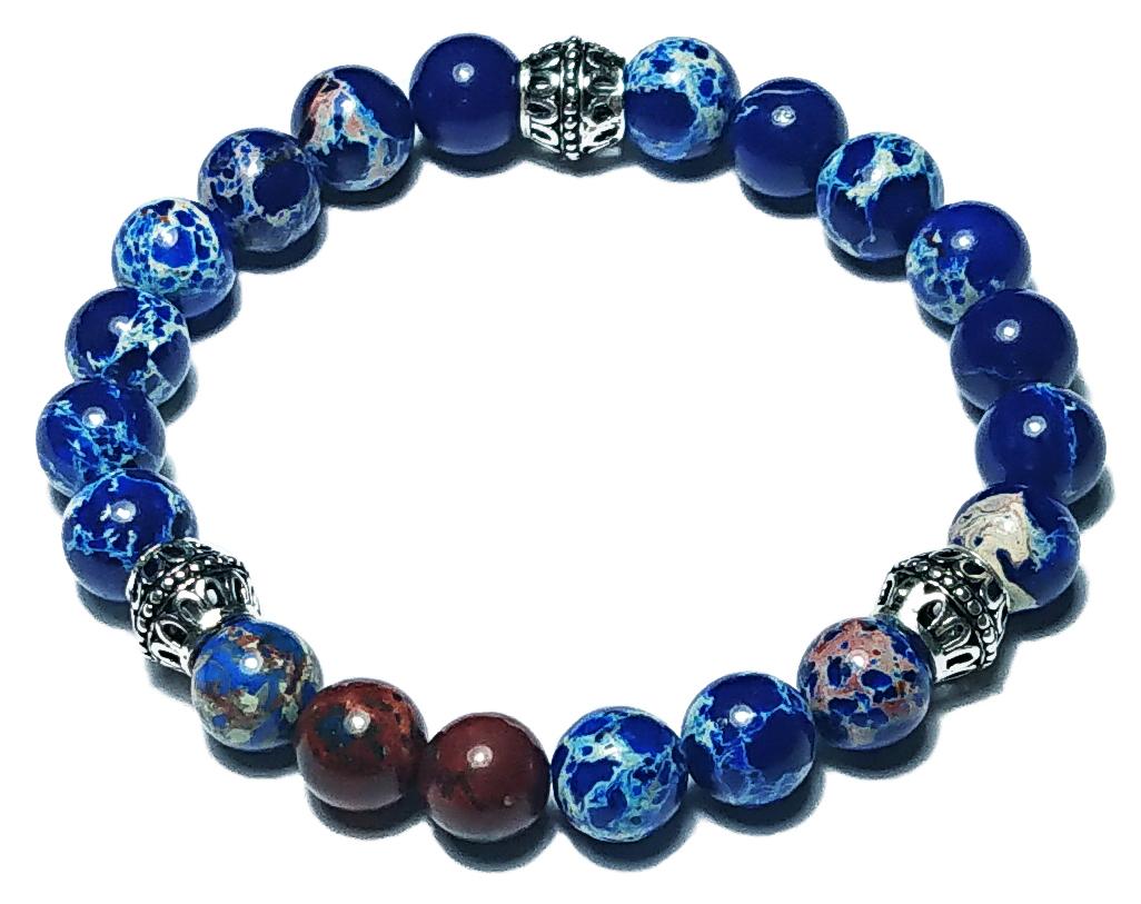 BEHERO Designer Armband Gate (blauer Jaspis)