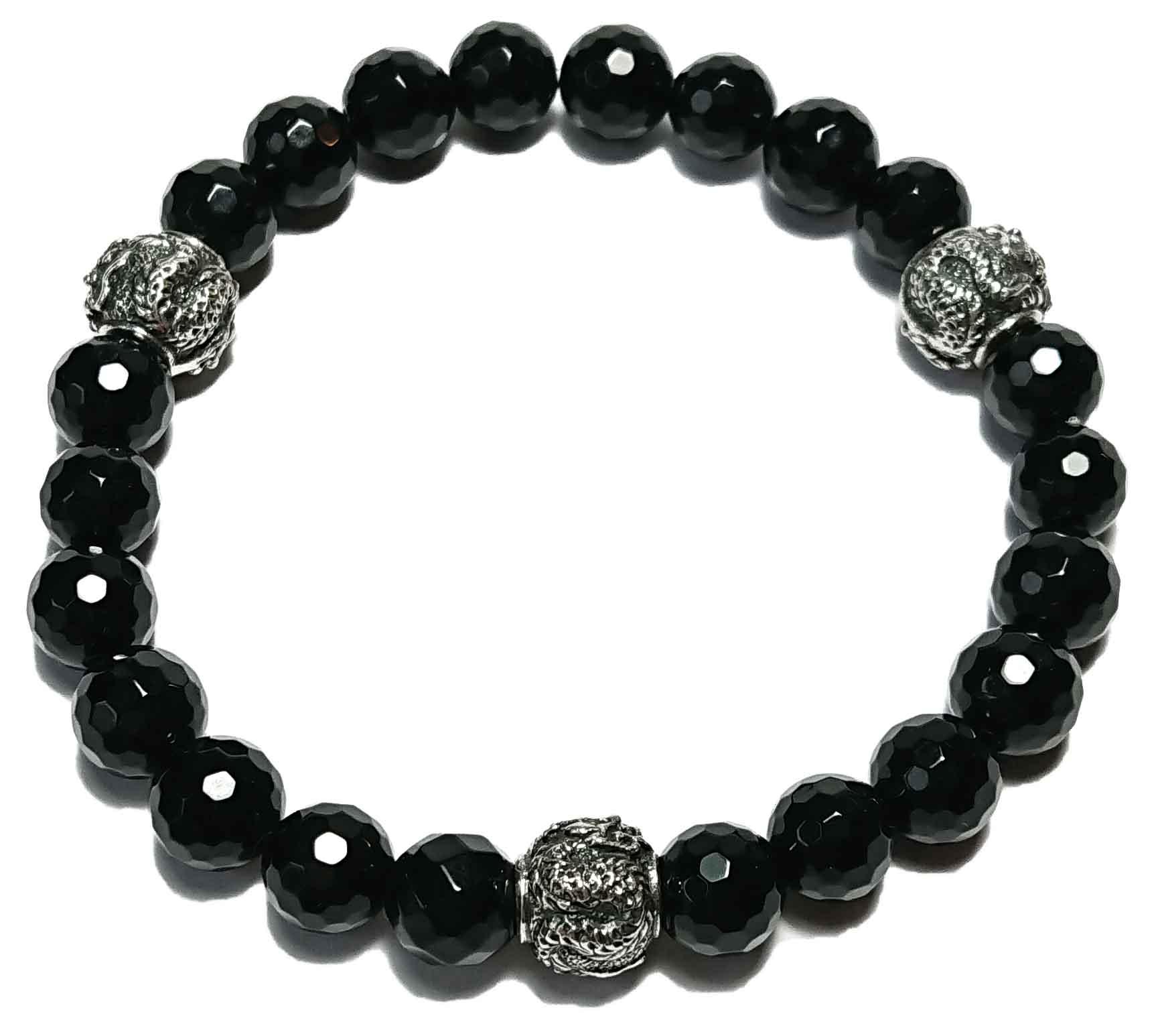 Shenlong (schwarz facet.) Armband