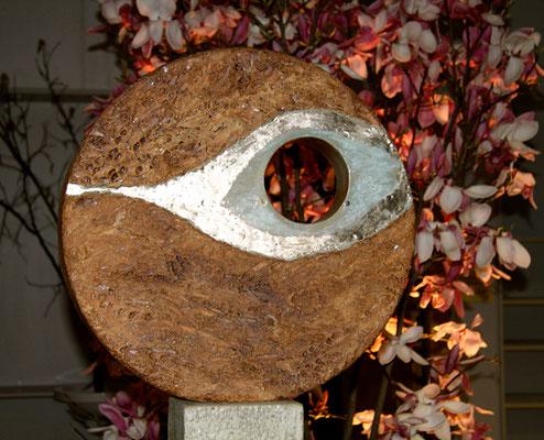 Keramik handgemacht, Stele Auge