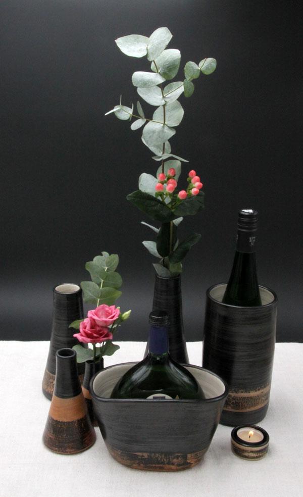 Keramik Weinkühler im Dekor Schiefer