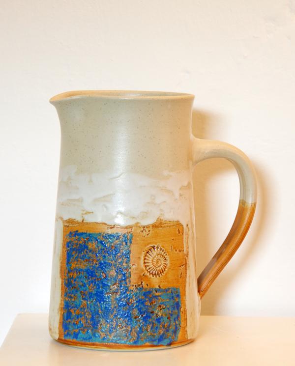 Keramik, Krug Dekor Santorin