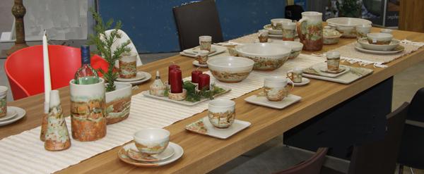 Gedeckter Tisch Neuseelanddekor