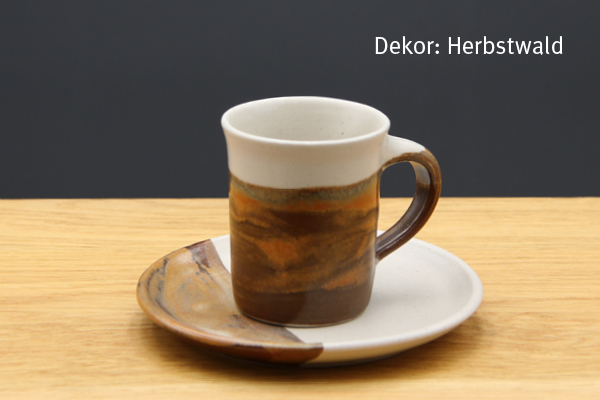 Keramik Espresso Gedeck Herbstwald