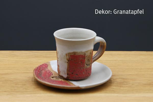 Keramik Espresso Gedeck Granatapfel