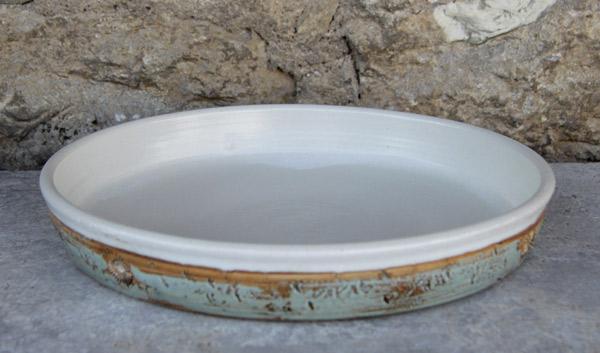 Keramik Tarteform ø ca. 30 cm  H ca. 4,5 cm Dekor Camargue