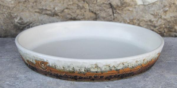 Keramik Tarteform ø ca. 30 cm  H ca. 4,5 cm Dekor Basalt