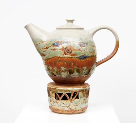 Keramik, Teekanne Neuseeland mit Stövchen