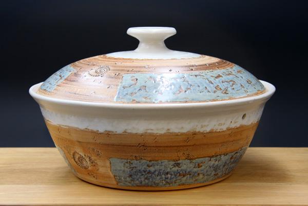 Keramik, Brottopf Dekor Camargue ø ca 29 cm h ca. 10,5 cm