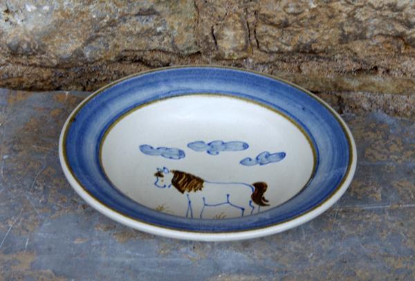 Keramik Essteller, ø ca. 20,5cm, h ca. 4,5 cm, handgemalt