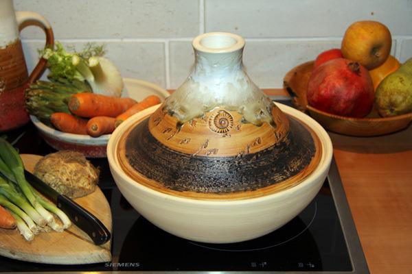 Keramik, Tajine Dekor Basalt