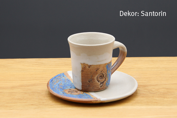 Keramik Espresso Gedeck Santorin