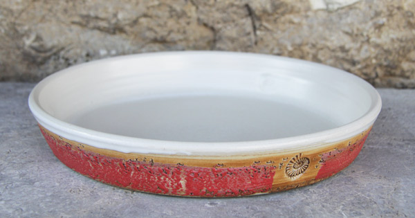 Keramik Tarteform ø ca. 30 cm  H ca. 4,5 cm Dekor Granatapfel