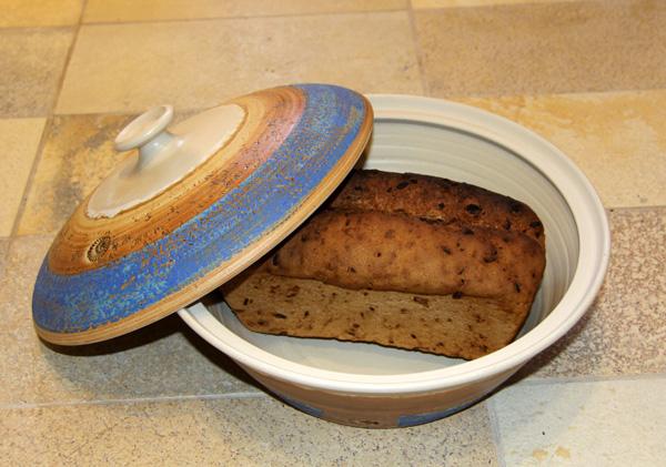 Keramik, Brottopf Dekor  Santorin ø ca 32 cm h ca. 10,5 cm