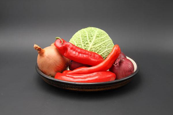 Tarteform als Gemüseschale