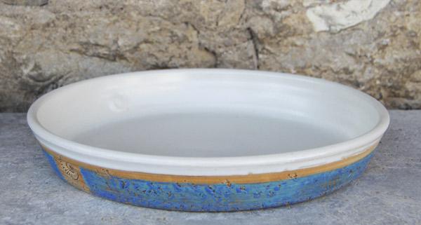 Keramik Tarteform ø ca. 30 cm  H ca. 4,5 cm Dekor Santorin