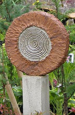 Keramik handgemacht, Stele Spirale