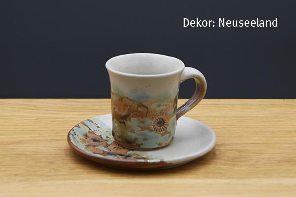 Keramik Espresso Gedeck Neuseeland