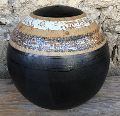Keramik Wasserkugel, Dekor Schiefer, ø ca. 45 cm
