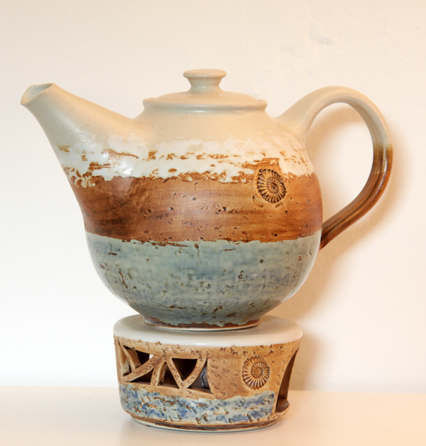 Teekanne mit Stövchen Dekor Camargue