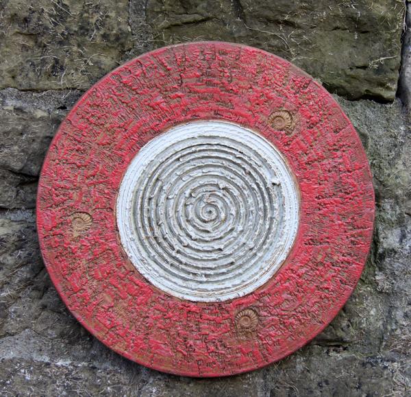 Keramik handgemacht, Spirale ø ca. 43 cm
