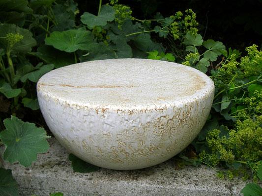 Keramik handgemacht, Gedenkstein hell glasiert personalisiert