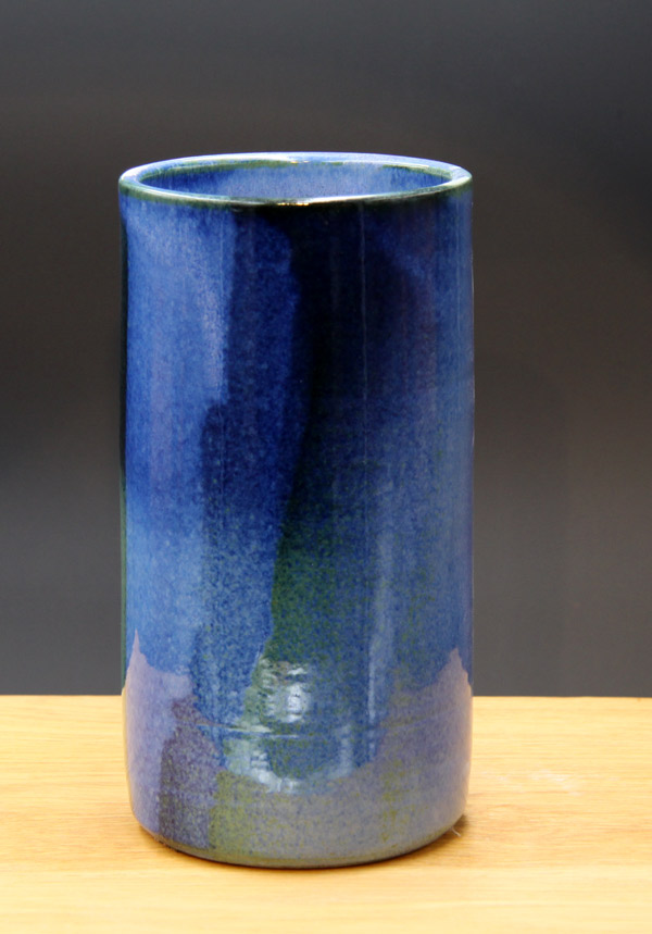 Keramik Weinkühler Literflasche, Dekor Blick ins Meer