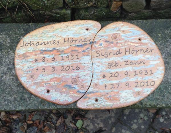 Keramik handgemacht, Schriftplatte mit Neuseeland Dekor, personalisiert