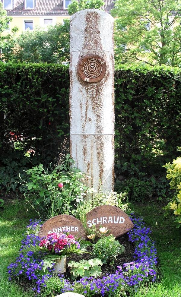 Grabstele Keramik mit Platinauflage h ca. 170 cm