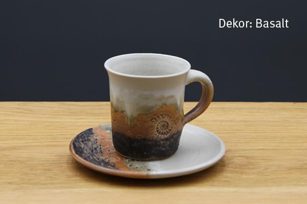 Keramik Espresso Gedeck Basalt