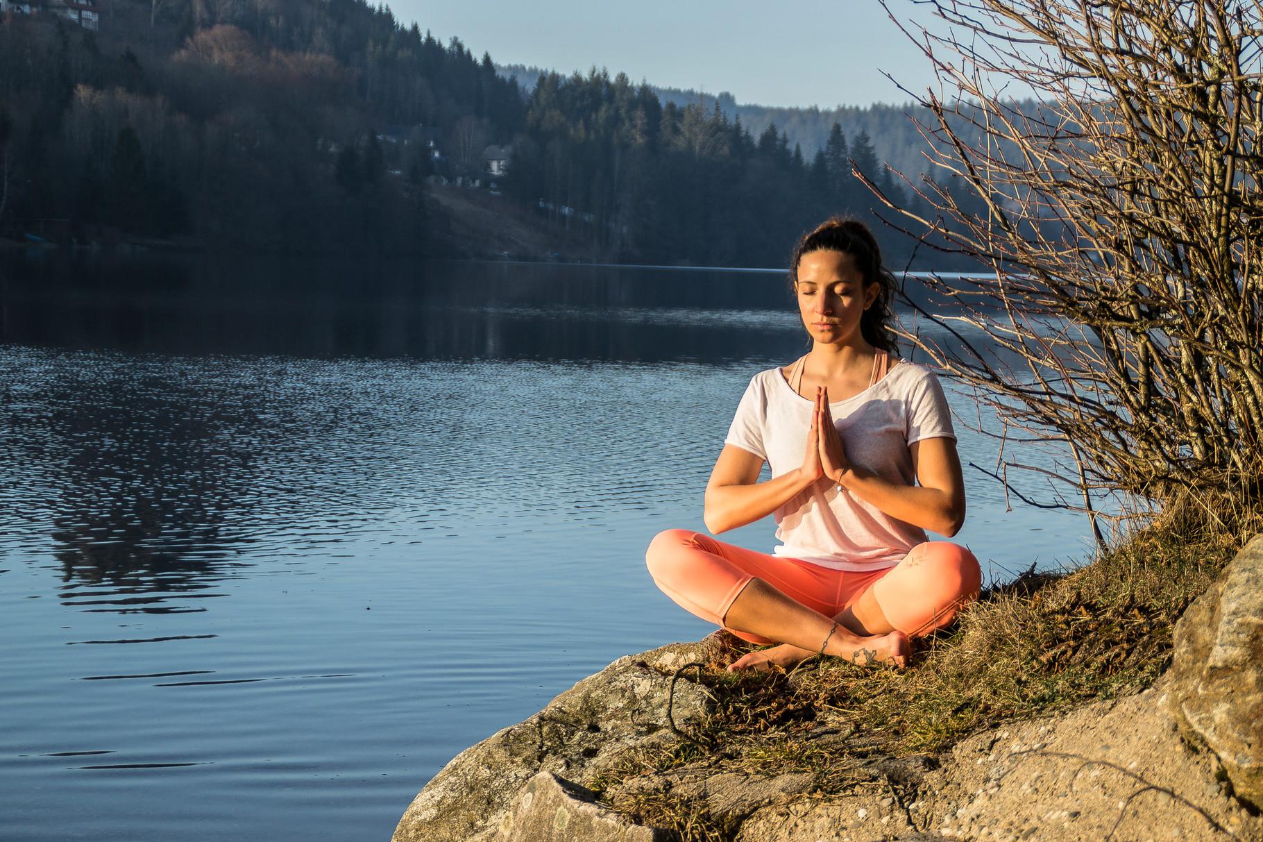 Meditation am Titisee