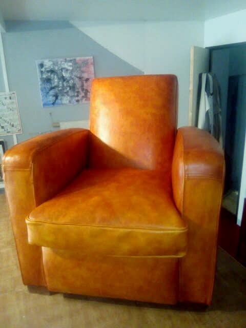 marylinegrac-tapissier d'ameublement- Fauteuil CLUB entièrement rénové