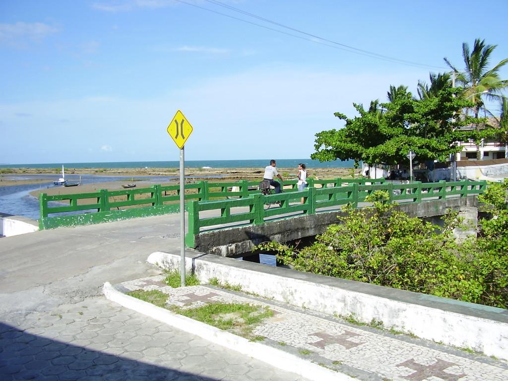 die Brücke in Strandnähe