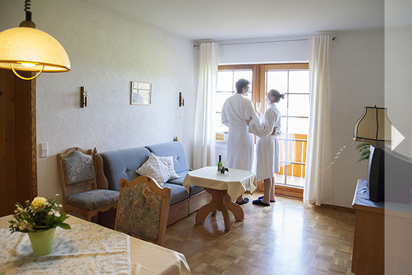 Landhaus Weber Ferienwohnung Wohnzimmer