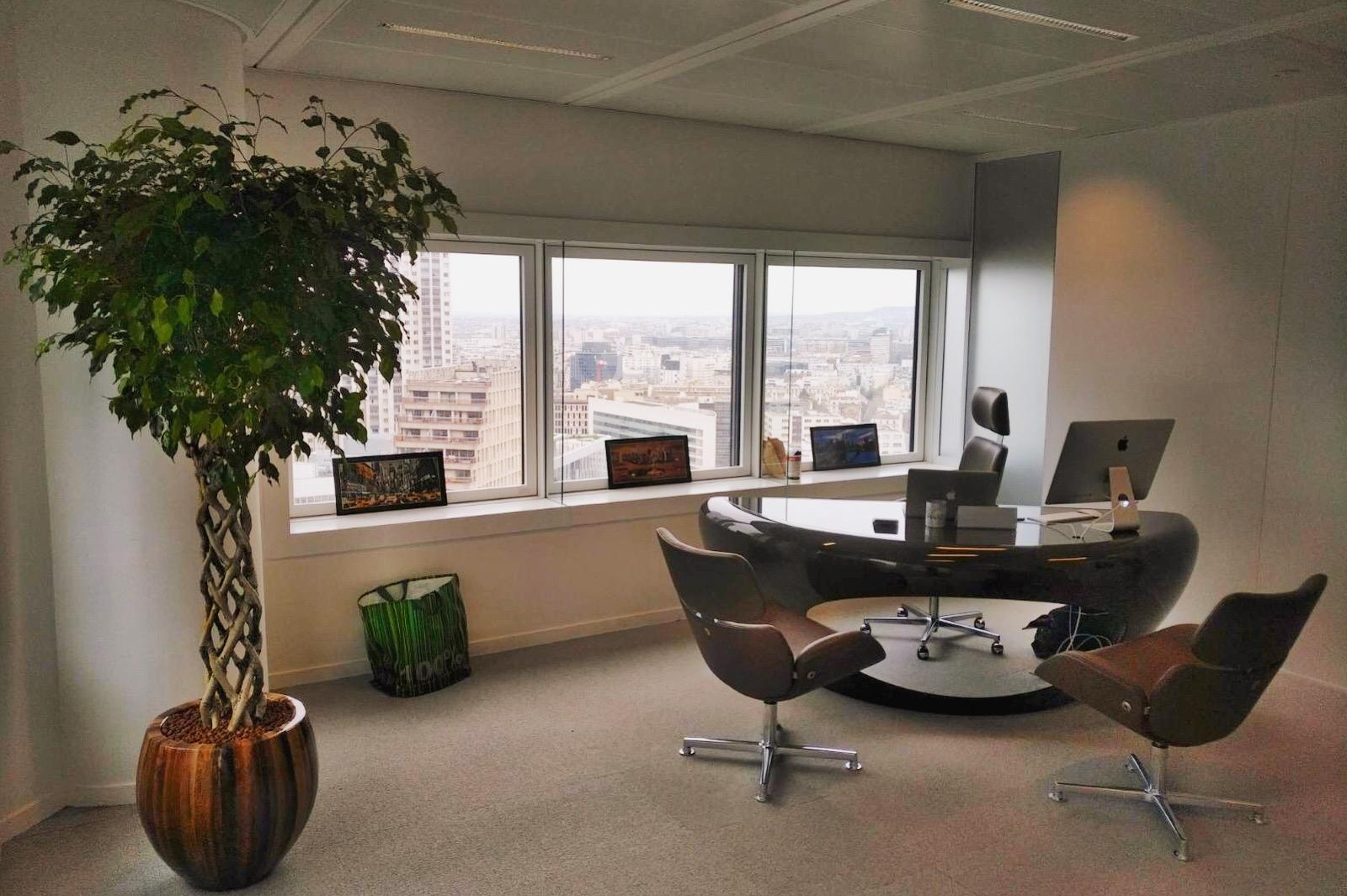 Paysagiste d'intérieur: location de plantes pour ces bureaux situés à La Défense
