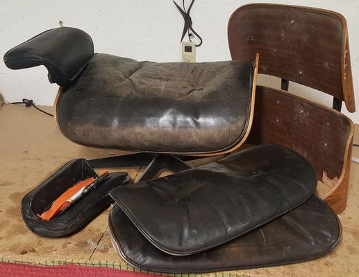 Fauteuil Lounge C.Eames à réparer