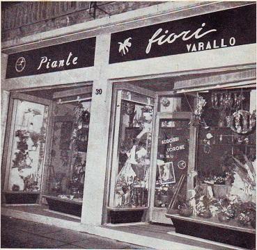1966 Il negozio di fiori in via Cavour