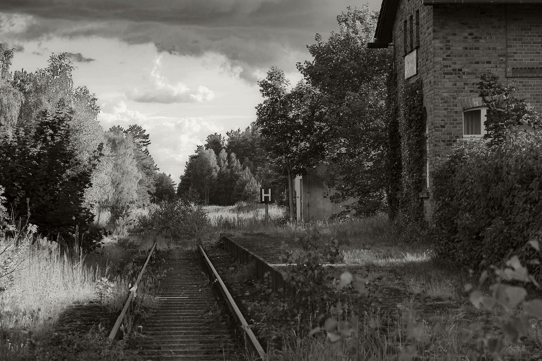 Dürrenhofe, Spreewald, ausrangierter Bahnhof