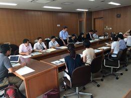 岩本教育次長の一声で意見交換会が実現!関係部局と情報共有する貴重な機会となりました。