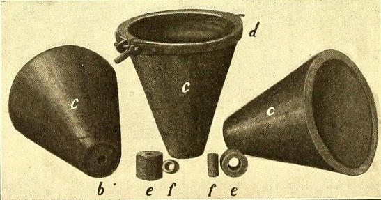 Alumino-Thermics: Conical crucibles lined with magnesia
