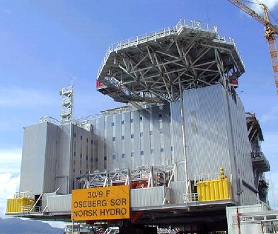 Rührreibgeschweißtes Wohnmodul der Offshore-Plattform Oseberg Sør der Norsk Hydro