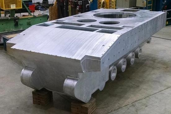 Friction Stir Welded Hull Prototype Designed by the Ground Vehicle Systems Center and Fabricated by Concurrent Technologies Corporation