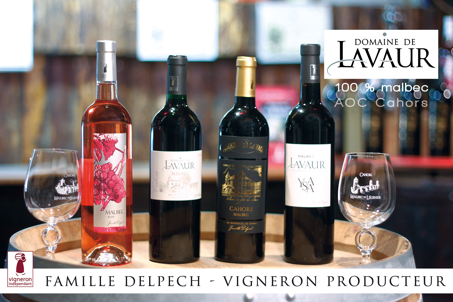 Domaine de Lavaur - AOC Cahors - 100 % malbec - Malbec rosé - Lot - charte qualité des vins d'excellence - vigneron indépendant de france