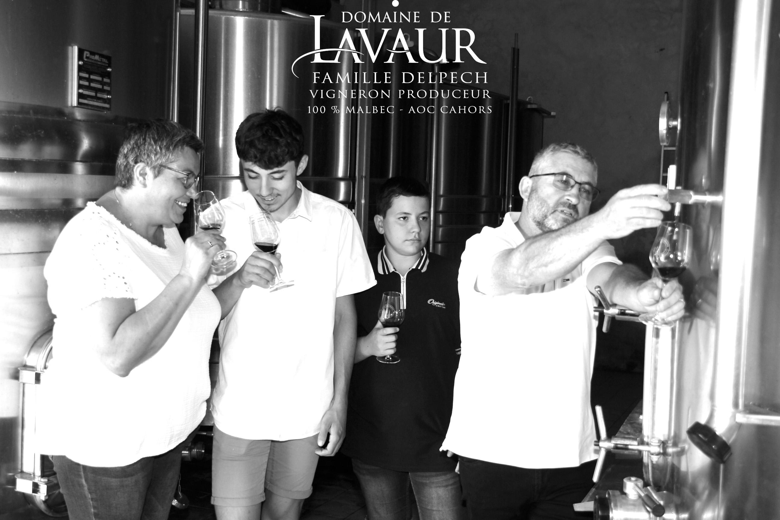 Domaine de Lavaur AOC Cahors malbec vigneron récoltant - dégustation - séjour - vente en ligne et à la propriété