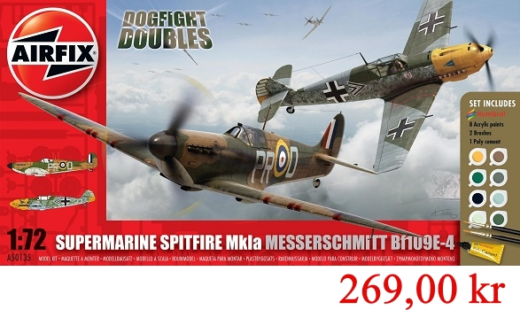 Airfix Supermarine Spitfire Mk1a and Messerschmitt Set